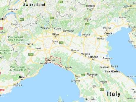 A bridge has collapsed in Genoa, Italy.  Picture:  Google