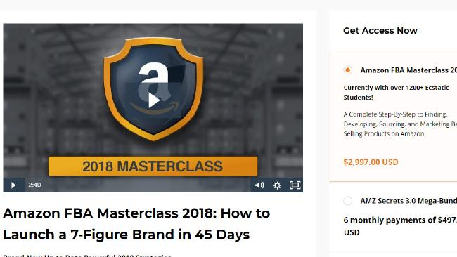 The online masterclass offered on Wilson's 'Freedom Formula' website.