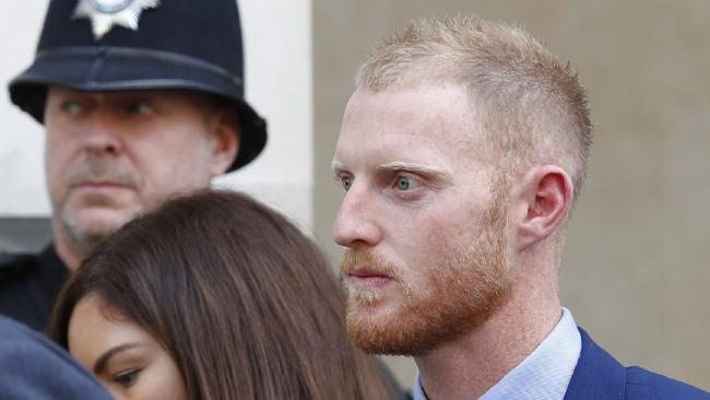 England cricketer Ben Stokes at Bristol court. Picture: AFP
