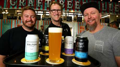 The Ekka has local craft brewers including some from Michael McGovern from Black Hops in the middle is Matt Kirkegaard (Beer Educator) and Scott Hargrave from Balter Brewery.