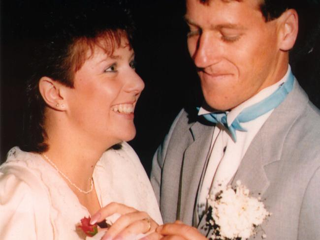 Kathleen and Craig Folbigg on their wedding day.