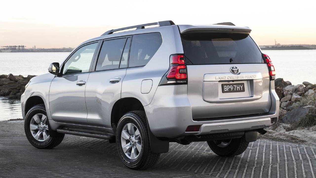2018 Toyota Prado without rear mounted spare tyre.
