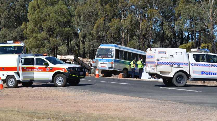 Two people were killed in a head-on crash on the Surat Developmental Rd 13km east of Tara on the Western Downs.