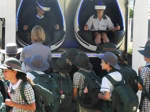 VR pods were a big hit with students who seemed to