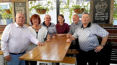 Bill Sweetenham,Carole Kelly, Noel Weaver, Carole Malivoire, Don Budge and Ian Kirkman.