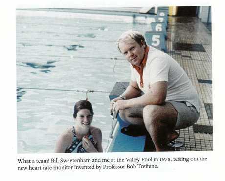 Bill Sweetenham with Tracey Wickham (Australian multiple world record holder).