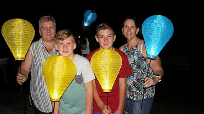 Light up at the annual event for Leukaemia