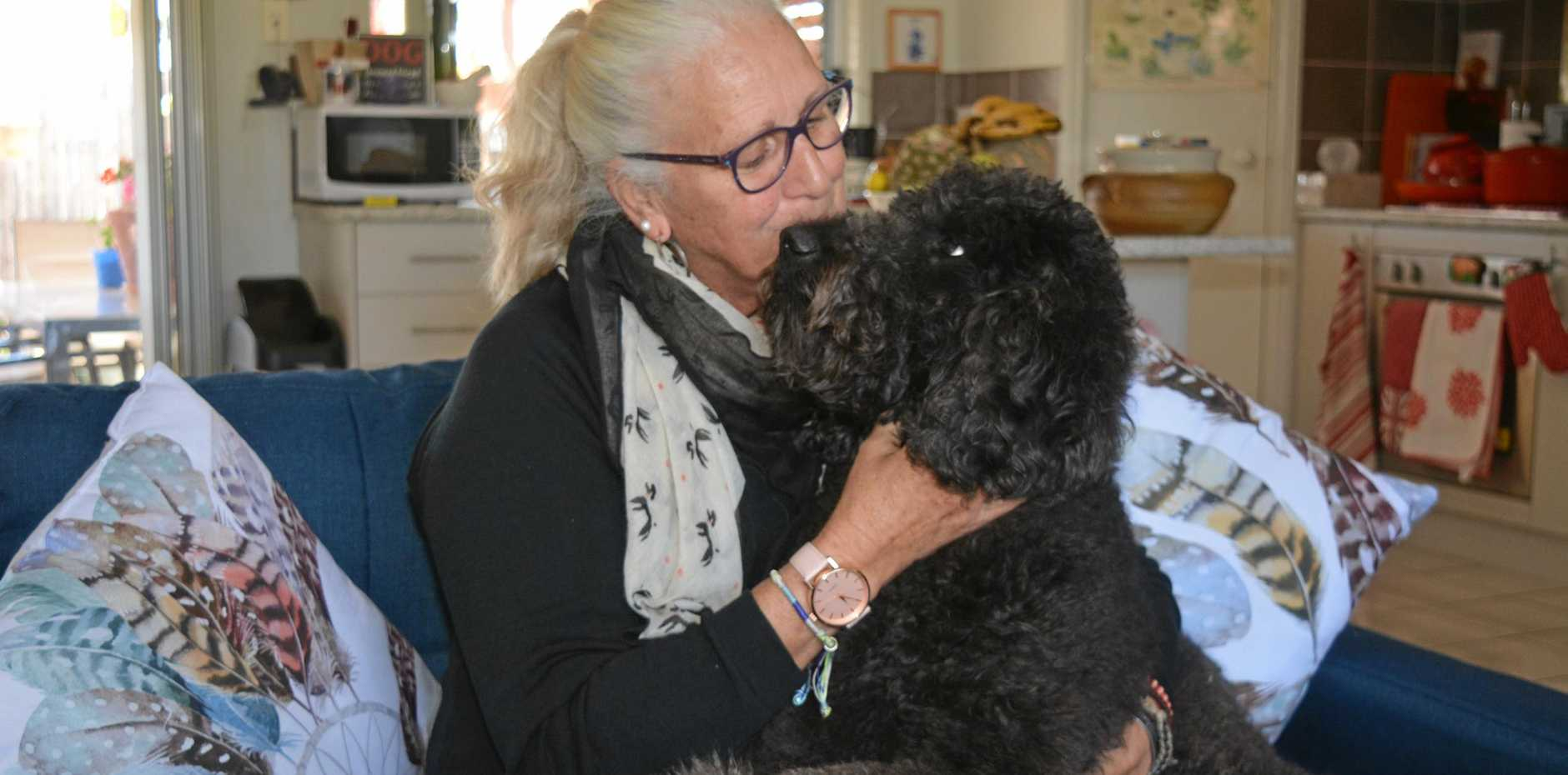 BIG LOVE: Veteran Joy O'Donohue said she couldn't survive without Chicko.