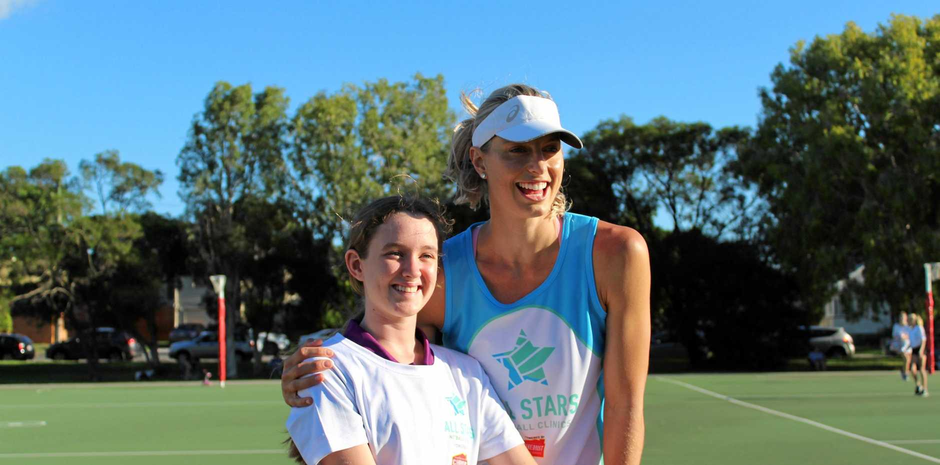 HEADS UP: Firebird Laura Geitz is bringing the All Stars Netball Clinic to the Lockyer Valley.