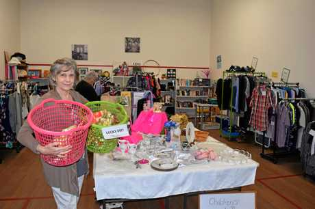 Janet Thomthwaite says there is a lucky dip for everyone at The Meeting Place Op Shop in Granville.