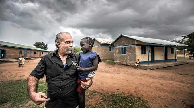 GOING ARMED: Sam Childers, the Machine Gun Preacher, an inspirational speaker will make a special visit to the Fraser Coast.