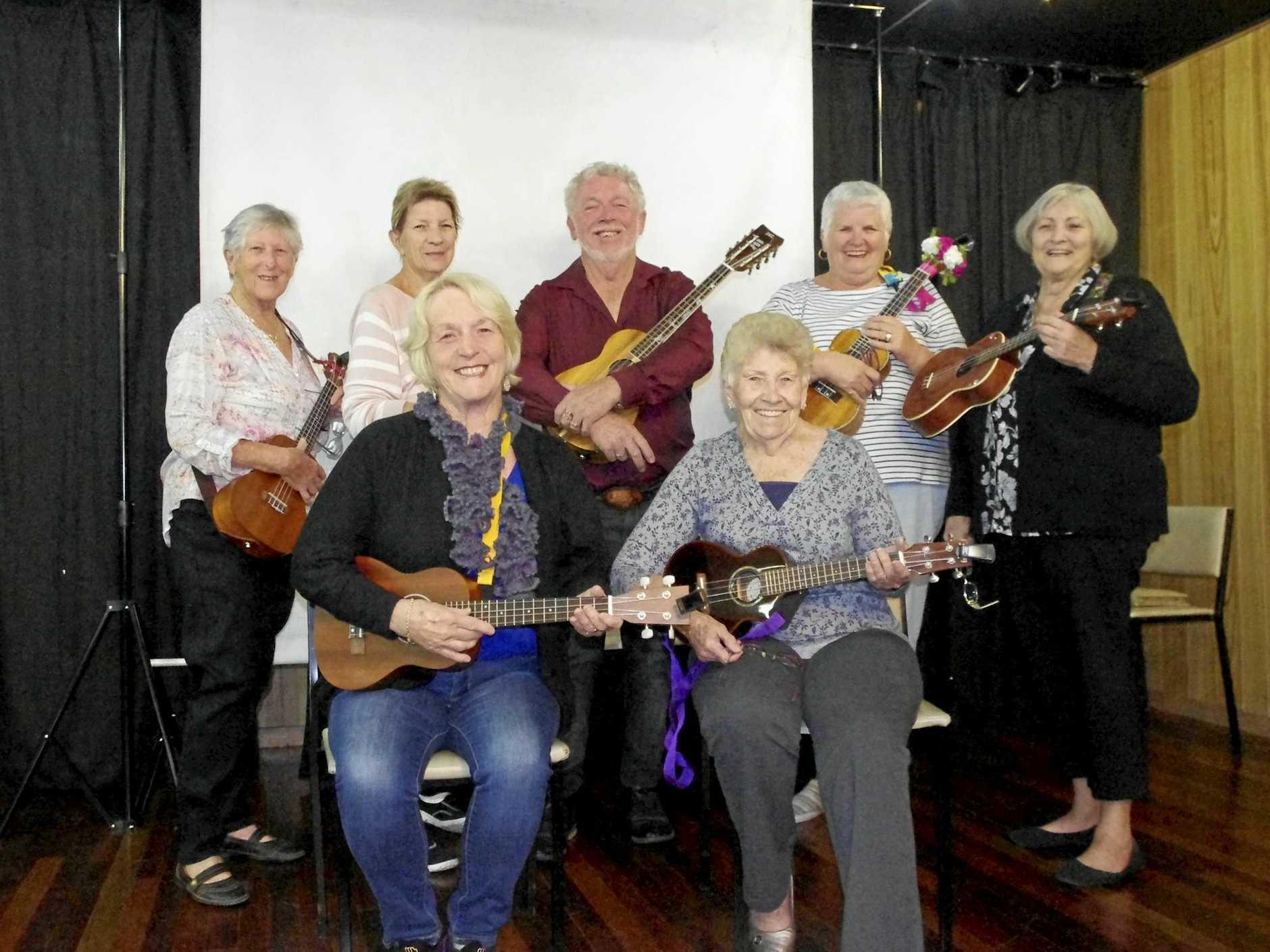 GRAB YOUR UKE: Gladstone ukulele club meet twice each week for musical fun.