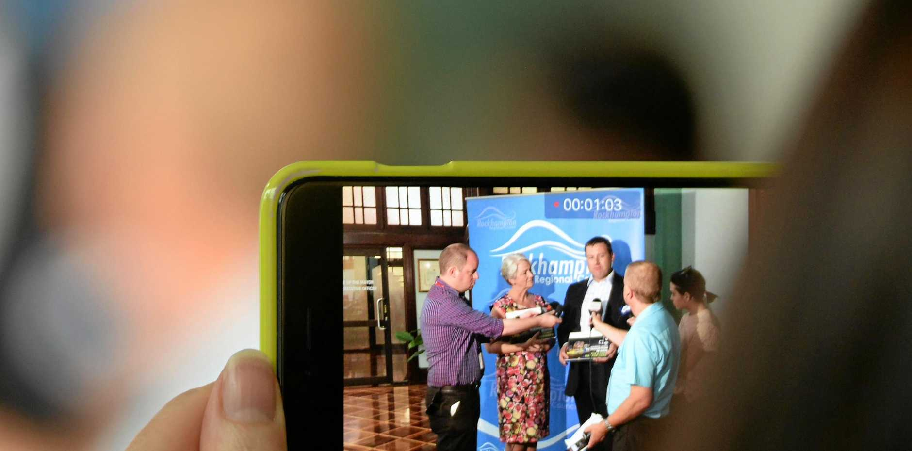 Rockhampton Mayor Margaret Strelow and Glentworth CEO Neil Glentworth at the press conference to announce
