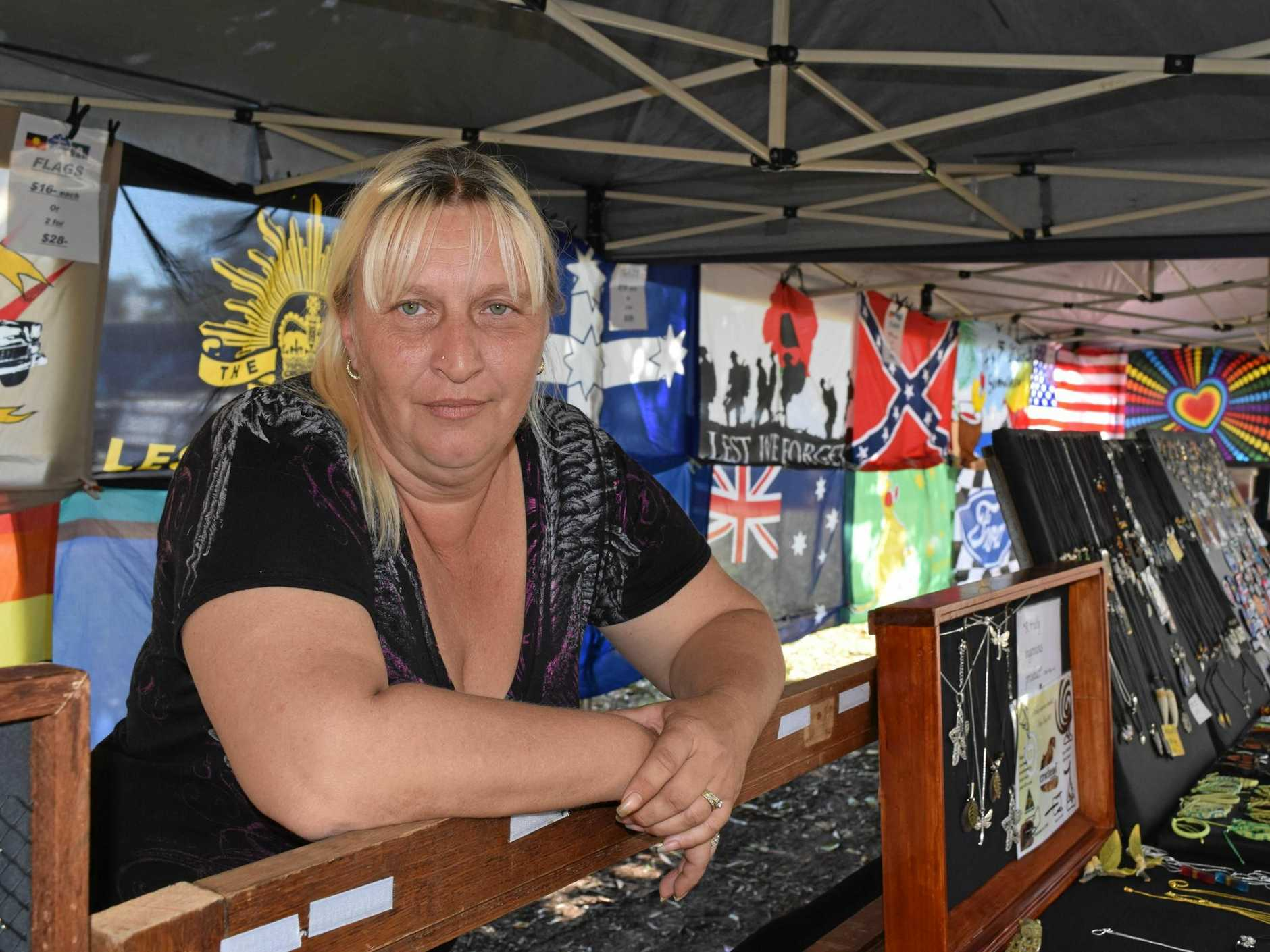MARKET TROUBLES: Urangan Markets president Tanja Bode says the rollout of the cashless card in Hervey Bay will affect purchases at the local markets.