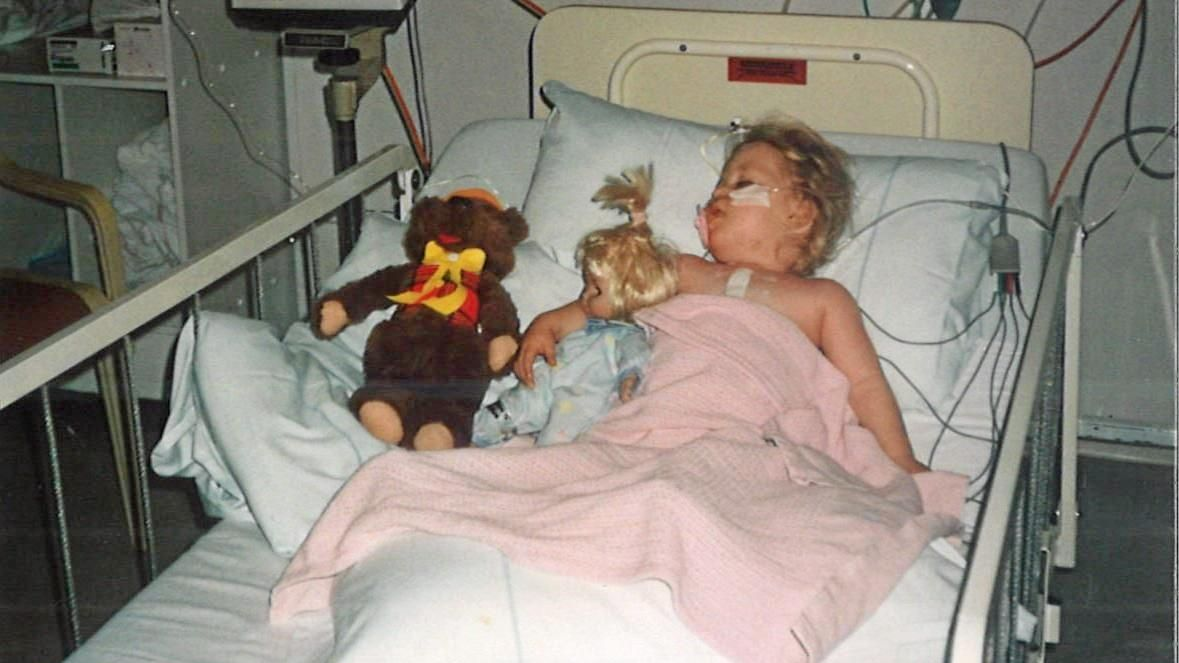 LITTLE BATTLER: Teigan Wantling was born with a genetic disorder known as 22q11 deletion.
