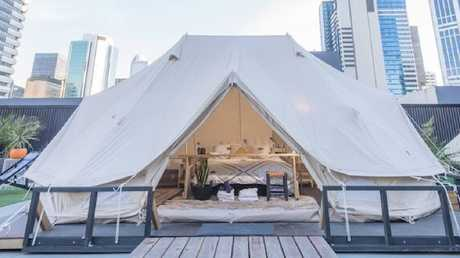 GlamXperience will showcase its Safari Tent at the expo. Picture: The Melbourne Home Show