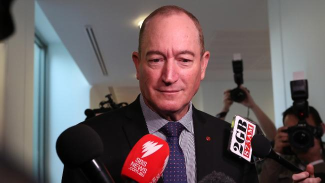 Senator Fraser Anning at Parliament House in Canberra. Picture: Kym Smith