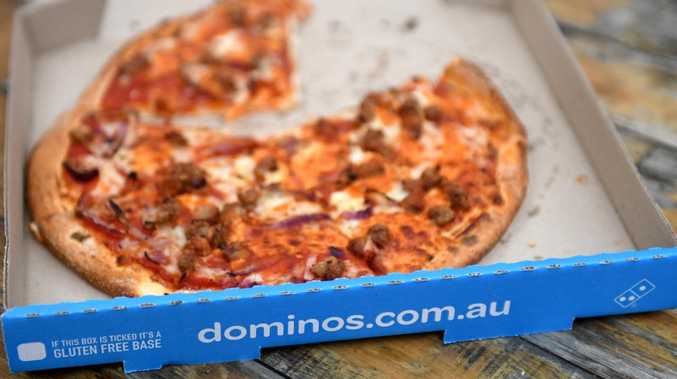 One in three pizzas delivered in Australia are delivered by Domino's. Picture: AAP Image/Paul Miller