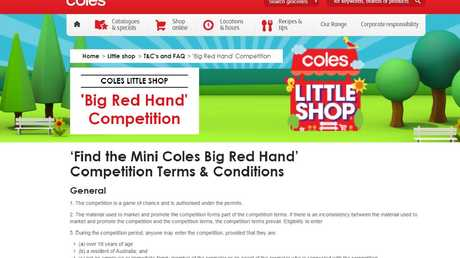 There are still hundreds of Coles Red Hands up for grabs. Picture: Supplied