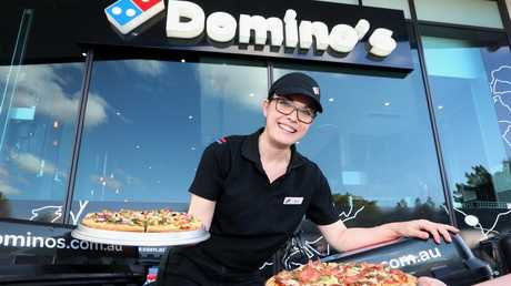 One in three pizzas delivered in Australia are delivered by Domino's. Picture: Jono Searle