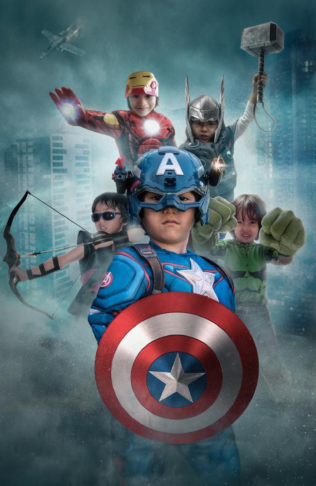 The superhero tribute to Julian. Picture: Story Art