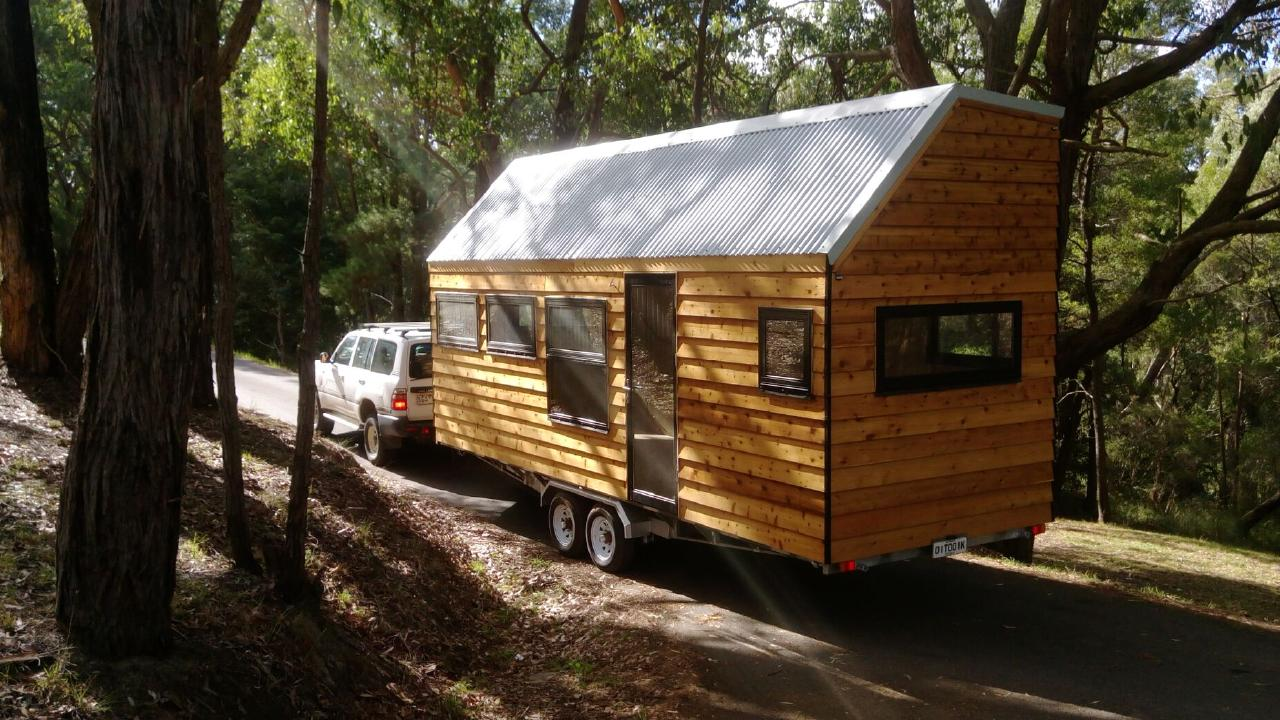 This home, by Off Grid Tiny Houses, features a king size loft. Picture: The Melbourne Home Show