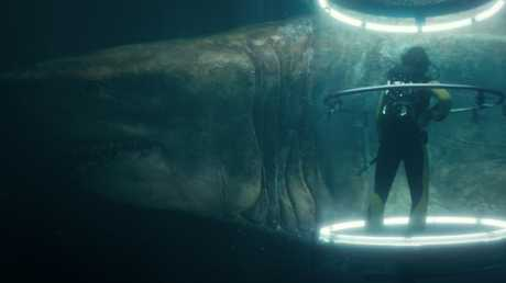 A megalodon, which actually died out some 2.6 million years ago, makes its ominous appearance in 'The Meg'. Picture: Warner Bros