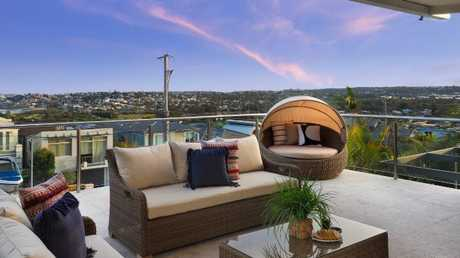 The home comes with views of Curl Curl beach.