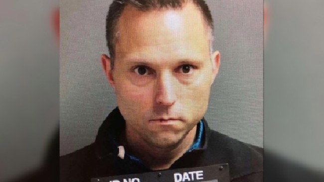 "Disgraced school official Thomas Tramaglini, 42, has been nicknamed ""The Pooperintendant"". Picture: Holmdel Township Police Department"