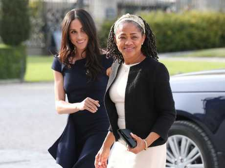 A friend of Meghan Markle's has reportedly said her estranged dad Thomas can get in touch with her via his ex-wife (and Meghan's mum) Doria Ragland. Picture: Getty Images