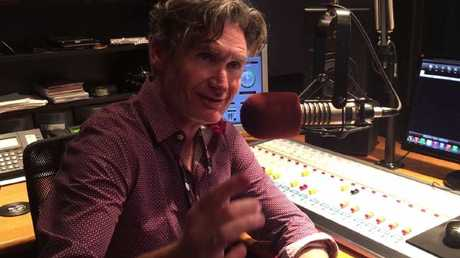 Hughesy in his Canadian radio studio.