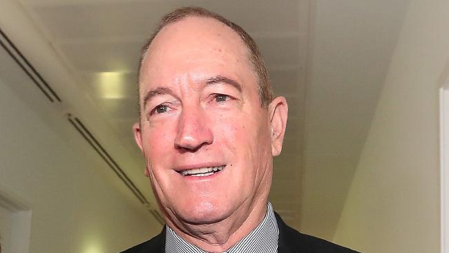 Senator Fraser Anning has shocked many Australians — including One National leader Pauline Hanson — by making racist comments in his maiden speech. Picture Kym Smith