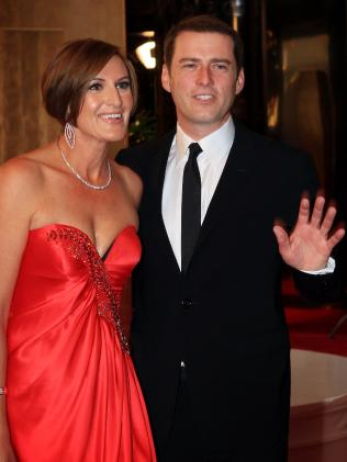 Karl Stefanovic and Thorburn on the red carpet at the 2011 Logies.