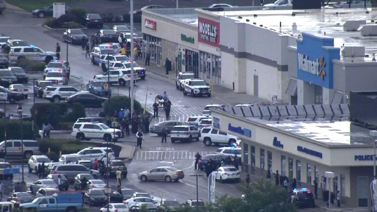 The Cheltenham, Pennsylvania, Walmart store at the centre of an active shooter report.
