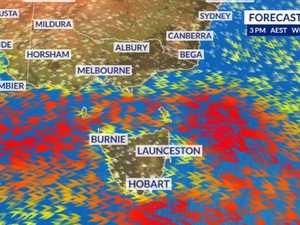 Wild winds whip up rain and bushfires