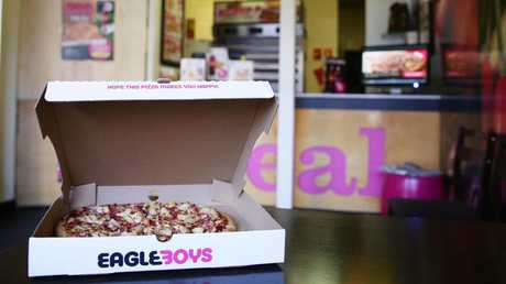 Eagle Boys was bought by Pizza Hut, taking a competitor out of the market.
