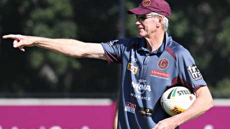 Wayne Bennett at Broncos training on Wednesday. Picture: Annette Dew