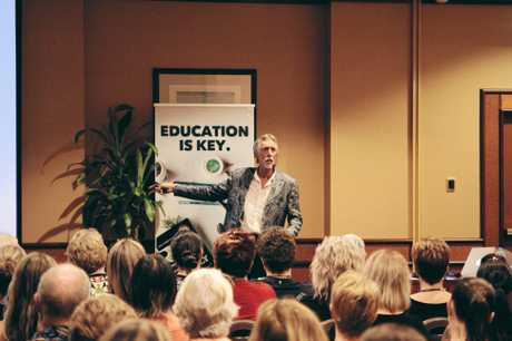 GOT GUTS: Don Chisholm has delivered talks around the world and now is coming to Warwick.