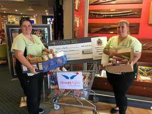 Cooroy's RSL filling up drought relief trolleys