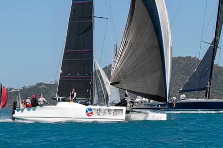 Local boat Ullman Sails  is leading the Multihull Racing Division after four days of racing.