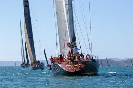 Super-maxi Condor  on the water during Airlie Beach Race Week.