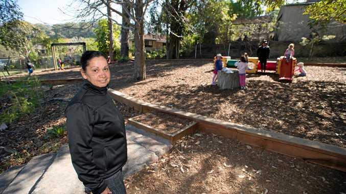 RENT SHOCK: Kulai Preschool director Julie Carey in the school grounds.
