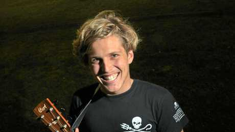 YOUNG GUN: Musician Ziggy Alberts at the Sunshine Coast in 2012.