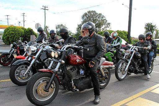 Motorcycles ready to roll