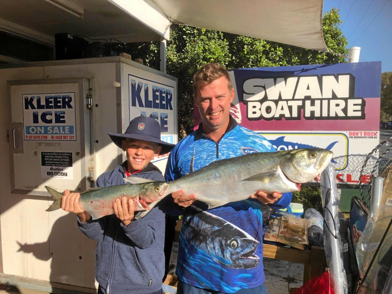 Mark and Josh Lester display the other great catches caught in the Maroochy River mouth.