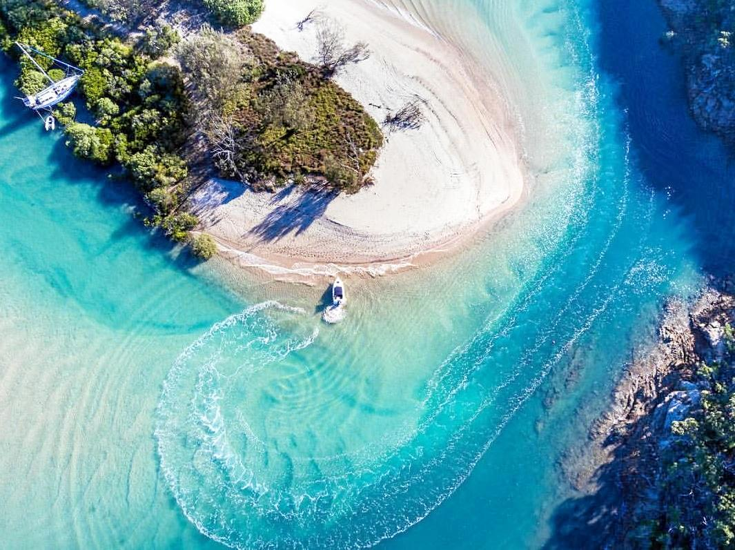 Drone photos from Great Keppel Island for Freedom Fast Cats.