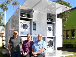 Man builds mobile showers for city's homeless
