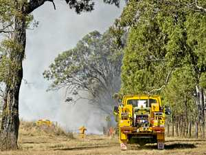 Warrill View fire posing no threat to property