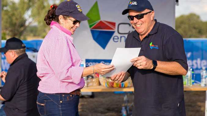 SPONSORSHIP: Kogan Creek Power Station general manager Phil Matha talks to a community member about CS Energy sponsorships.