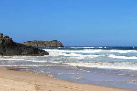 The beautiful but treacherous Dreamtime Beach, Fingal Head.